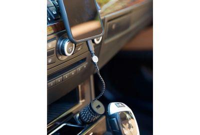 Chargeur Voitur ADEQWAT Lightning + support voiture aimanté