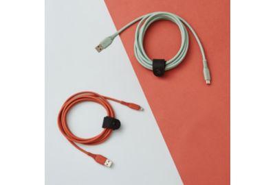 Câble lightning ADEQWAT 2m éco-design blanc