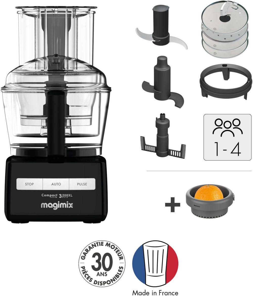 Robot multifonction Magimix CS 3200XL NOIR + Presse Agrume