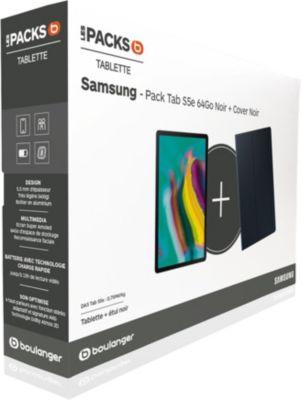 Tablette Android Samsung Pack Tab S5e 64Go Noir + Cover Noir