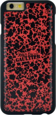 Etui Jean Paul Gaultier 2 en 1 iPhone 6/6s carton à dessin rouge