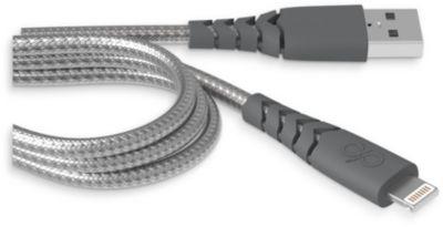 Câble Iphone force power 1.2m 2.4a gris