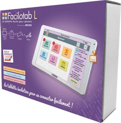 Tablette senior Cdip Pack FACILOTAB L 10.1 32Go Wifi 3G Blanc
