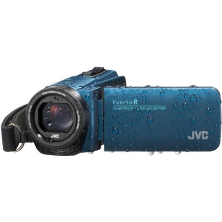 Camescope JVC GZ-R495 Bleu + SD 16Go