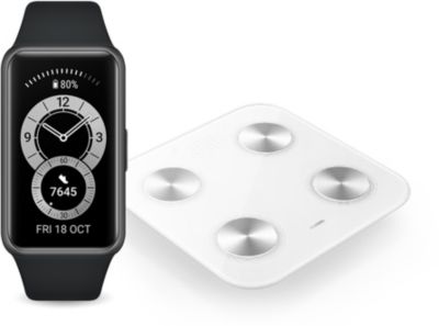 Montre connectée Huawei Pack Band 6 Noir + Balance Scale 3