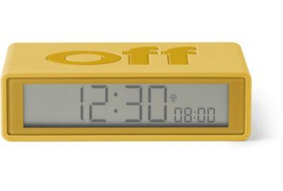 Réveil LEXON Flip+ Rubber jaune