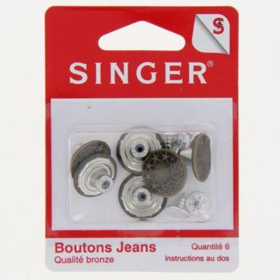 Accessoire Couture singer boutons jeans couleur bronze