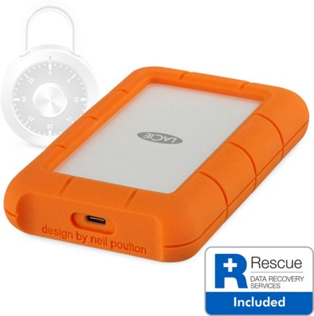 Disque LACIE 2To Rugged Secure USB-C