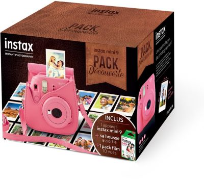 Appareil photo Instantané Fujifilm Pack Instax Mini 9 Rose