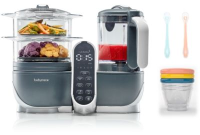 Mixeur Cuiseur BABYMOOV Nutribaby+ Grey/3 babybols/2cuillères