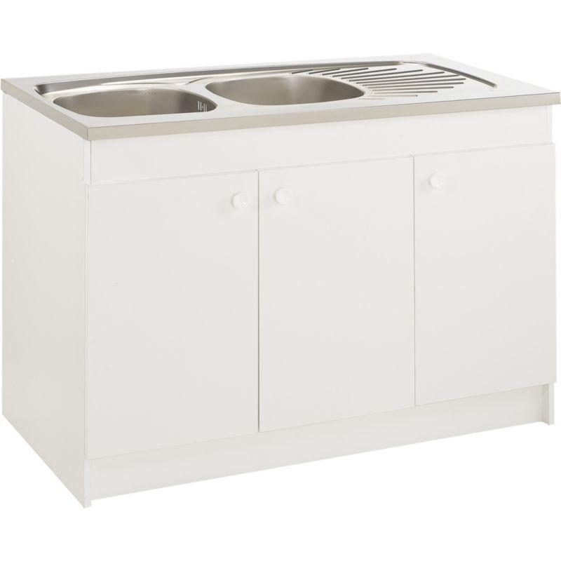 meuble bas moderna sous evier 3 portes abcp120d02