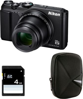 nikon compact coolpix a900 noir etui carte appareil. Black Bedroom Furniture Sets. Home Design Ideas