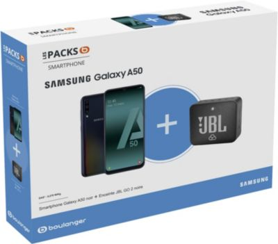 Smartphone Samsung Pack A50 + Enceinte JBL GO 2