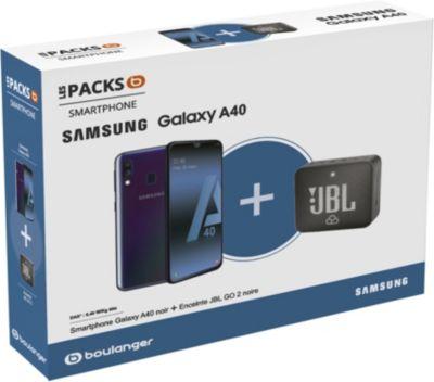 Smartphone Samsung Pack A40 + Enceinte JBL GO 2