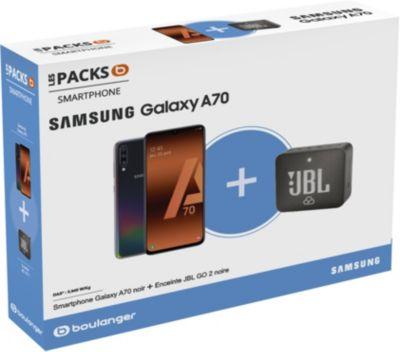 Smartphone Samsung Pack A70 + Enceinte JBL GO 2