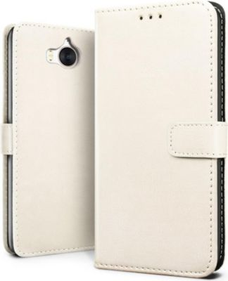 Lapinette portefeuille huawei y6 2017 blanc coque etui for Housse y6 2017