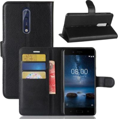 lapinette portefeuille nokia 8 noir coque etui smartphone boulanger. Black Bedroom Furniture Sets. Home Design Ideas
