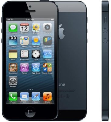 apple iphone 5 noir 16go reconditionn reconditionn comme neuf smartphone reconditionn. Black Bedroom Furniture Sets. Home Design Ideas