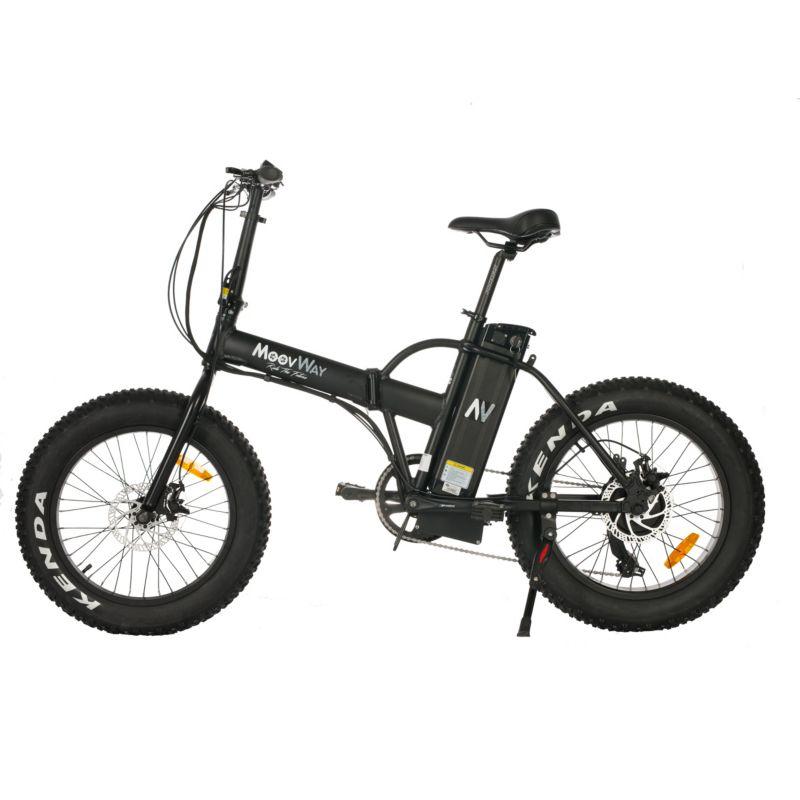 Vélo électrique MOOVWAY Fat Bike noir