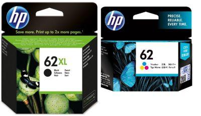 Cartouche d'encre HP Pack 62 XL Noir+62 Couleurs