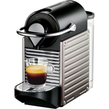 Expresso dosette pixie titane yy1201fd krups - Krups yy1201fd nespresso pixie machine a espresso titane ...