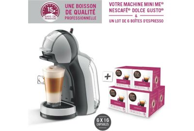 Distrib boisson KRUPS MiniMe YY4128FD + 6 boites de dosettes