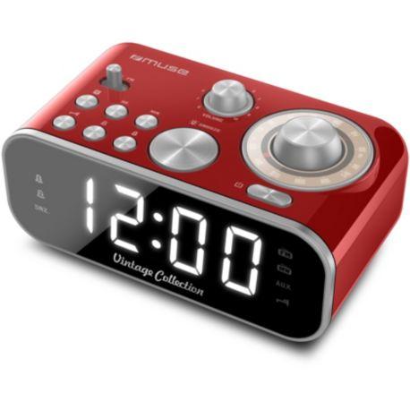 Radio-réveil MUSE M-18 rouge