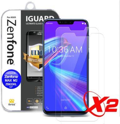 Protège écran Ibroz ZenFone Max M2 Verre trempé x2