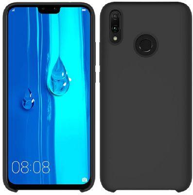 Coque Ibroz Huawei Y9 2019 Liquid Silicone noir