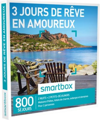 smartbox 3 jours de r ve en amoureux coffret cadeau boulanger. Black Bedroom Furniture Sets. Home Design Ideas