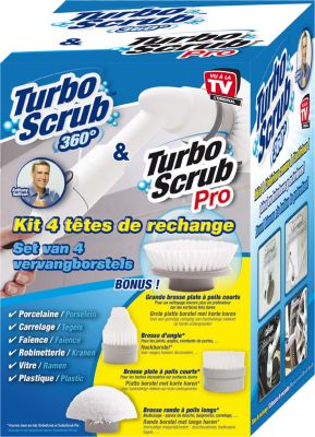 Brosse Best of tv 4 recharges turbo scrub clean10