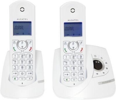 Téléphone sans fil Alcatel F360 Voice Duo Blanc