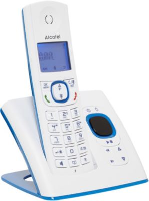 t l phone sans fil alcatel f530 voice solo bleu boulanger. Black Bedroom Furniture Sets. Home Design Ideas
