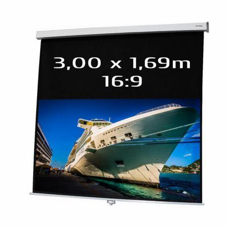 Ecran KIMEX de projection manuel 3.00 x 1.69m