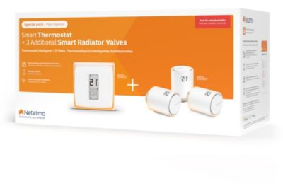 Pack sécurité NETATMO Pack Thermostat Intelligent+3 Tetes ther