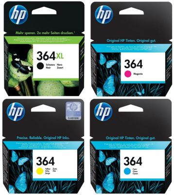 Cartouche d'encre HP Pack 364 XL Noir+364 Couleurs