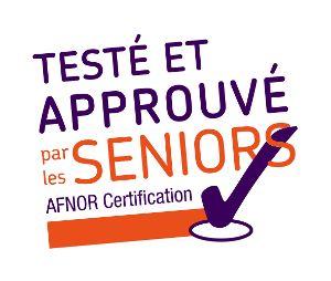 Logo AFNOR Testé et approuvé par les Séniors
