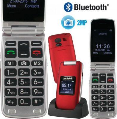 mobiho clap luxe 2 rouge senior t l phone portable boulanger. Black Bedroom Furniture Sets. Home Design Ideas