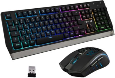 Clavier + Souris The g-Lab COMBO TUNGSTEN...