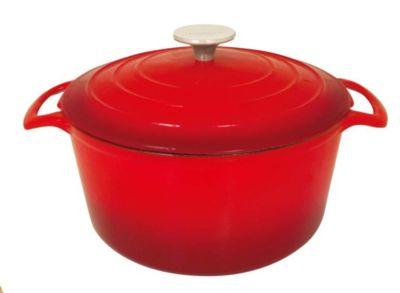 Cocotte ronde Table & Cook fonte rouge diam 28 cm