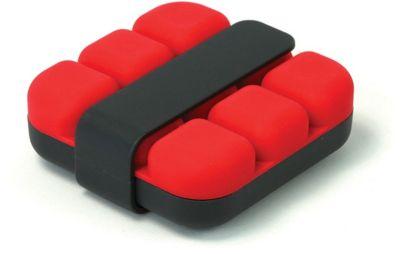 Bac À glaçons cookut cube - rouge avec pince