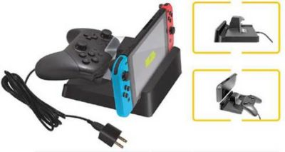 Accessoire Steelplay station de recharge manette pro + switch