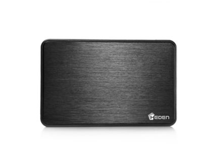 Boitier disque dur Heden 2.5'' USB 3.0 finition Alu Noir Mat