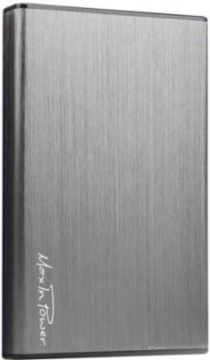 Boitier Maxinpower 2.5'' sata usb 3.0 plug and play silver