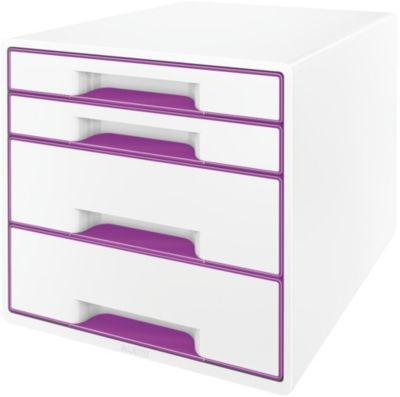 leitz bloc de classement tiroirs wow violet rangement papier boulanger. Black Bedroom Furniture Sets. Home Design Ideas