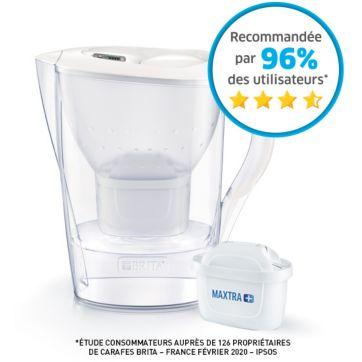 Carafe filtrante BRITA MARELLA blanc + 1 cartouche Maxtra+