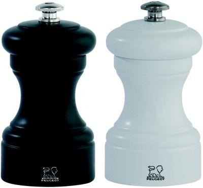 Moulin à poivre et sel Peugeot Bistro duo Noir + Blanc Poivre et sel