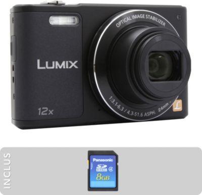 Appareil photo Compact Panasonic DMC-SZ10 noir + SD 8Go