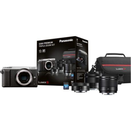 Appareil photo numérique PANASONIC GX80 silver+12-32+35-100+25mm+étui+SD16