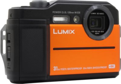 Appareil photo Compact Panasonic FT7 Orange+Power Bank solargo10000